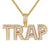 Trap Double Layer Two Tone Gold Finish Sterling Silver Pendant