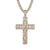 Designer Holy Cross Baguette Bling Religious Catholic Pendant