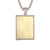 Custom Picture Memory Frame Dog Tag Gold Tone Pendant Set