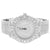 Men's Silver Tone Mason Style Solitaire Bezel  Watch