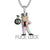 Custom Designer Man Holding Dollar Luck Bag Hip Hop Pendant