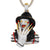 Gold Finish Custom Freddy Horror Character Sterling Silver Pendant