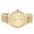 Men's Classic Gold Tone Accented Face Quartz Metal Link Watch
