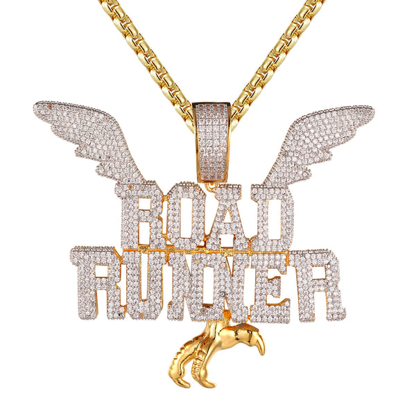 Road Runner Icy Wings Hip Hop Designer 925 Silver Pendant