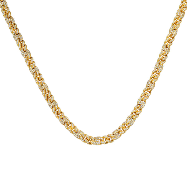 6MM Miami Cuban Link Choker Sterling Silver Custom Necklace