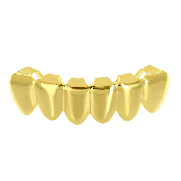 Custom Fit Grillz 14K Gold Plated Bottom Teeth Grillz Caps