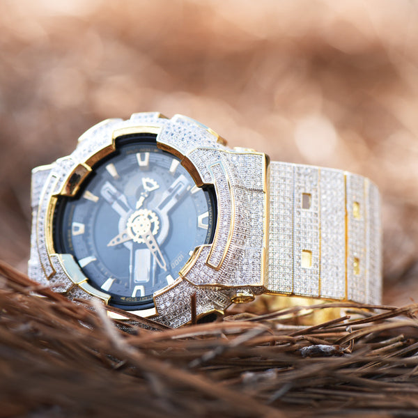 Fully Iced Out Authentic G-Shock G100-110 Mens Watch