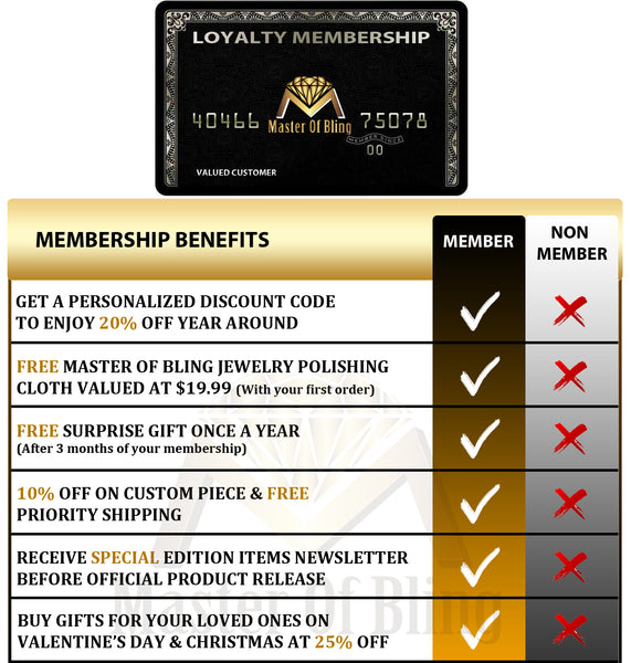 Master Of Bling Membership Loyalty Program