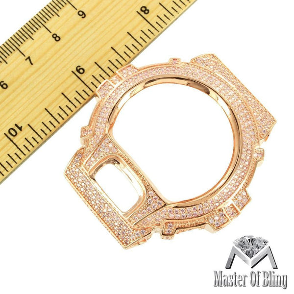 Authentic G Shock Watch Bezel New Icy Rose Gold Finish Simulated Lab Diamond