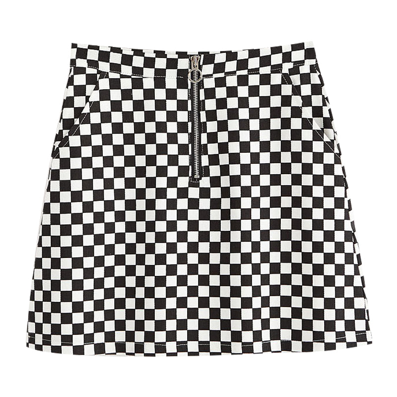 2017 BLACK FRIDAY-90s PLAID CHECKER MINI SKIRT