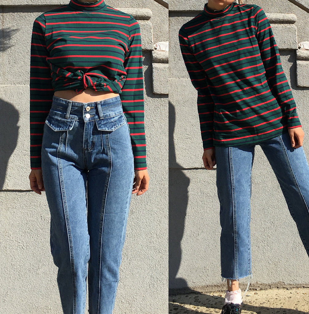 BEE HAPPY-GRUNGE COLLECTION- Turtleneck Long sleeve OUTFIT