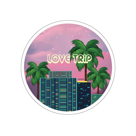 80s Japanese City Pop Aesthetic - love trip Sticker