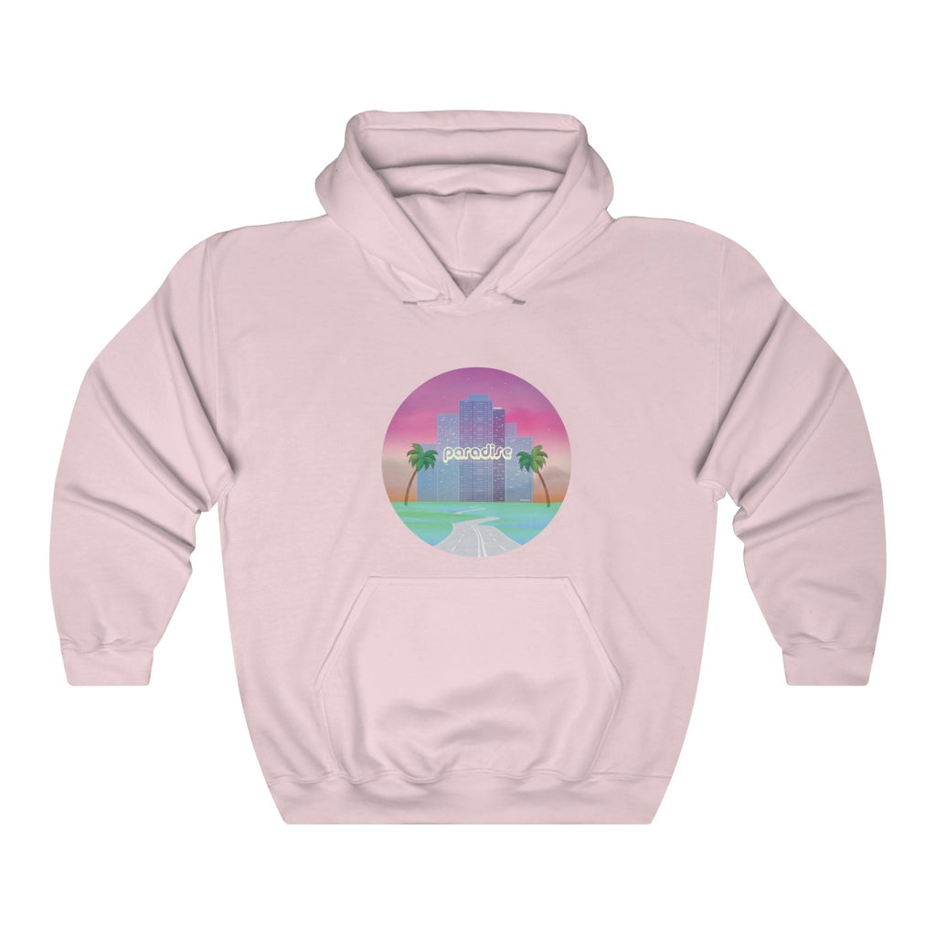 80s Japanese City Pop Aesthetic -PARADISE PINK Unisex Hoodie
