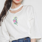 "SOFT GRUNGE 90S BABE ""take these flowers"" loose tee"