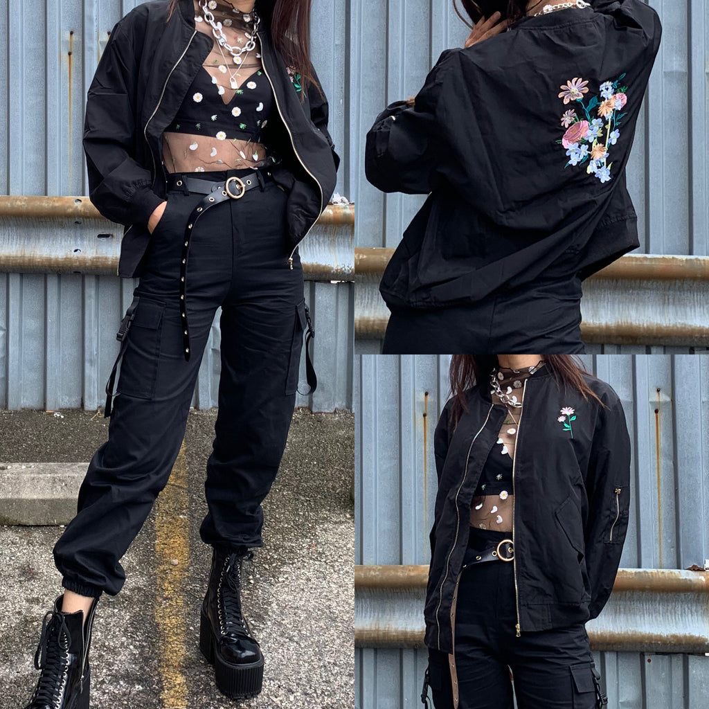 JUST TAKE THESE FLOWERS bomber jacket