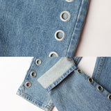 April FLASH SALE - DENIM GRUNGE 90S HIGH WAIST -EYELET