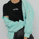 Valentine's Day SALE- PASETL ALIEN MINT KOKO BOMBER JACKET