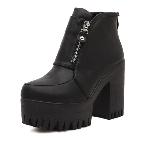 BLACK FRIDAY-BUCKLE Grunge ZIP BOOTS