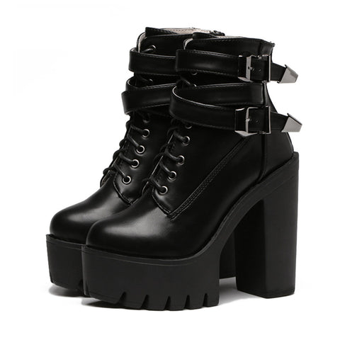 APRIL FLASH SALE- BUCKLE HIGH TOP BOOTS