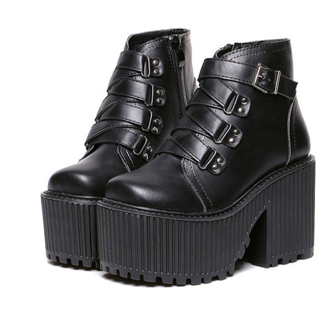Valentine's Day SALE-BUCKLE Grunge BOOTS