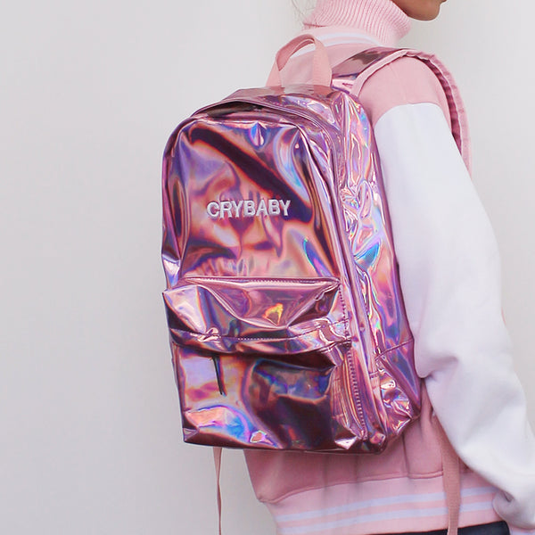 Get It Now Koko Holographic Crybaby Backpack Kokopiecoco