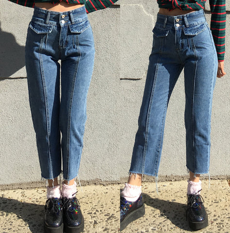 90s KIDS HIGH WAIST DENIM