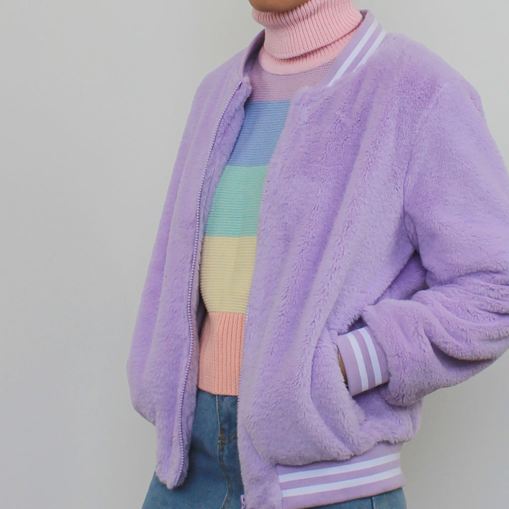 VALENTINE'S DAY SALE- KOKO FLUFFY LAVENDER JACKET