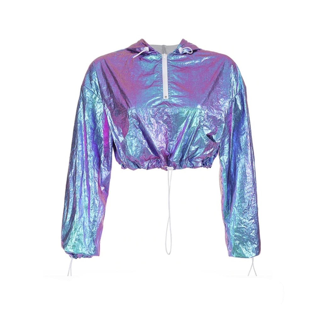 2019 I PURPLE U - HOLOGRAPHIC WINDBREAKER