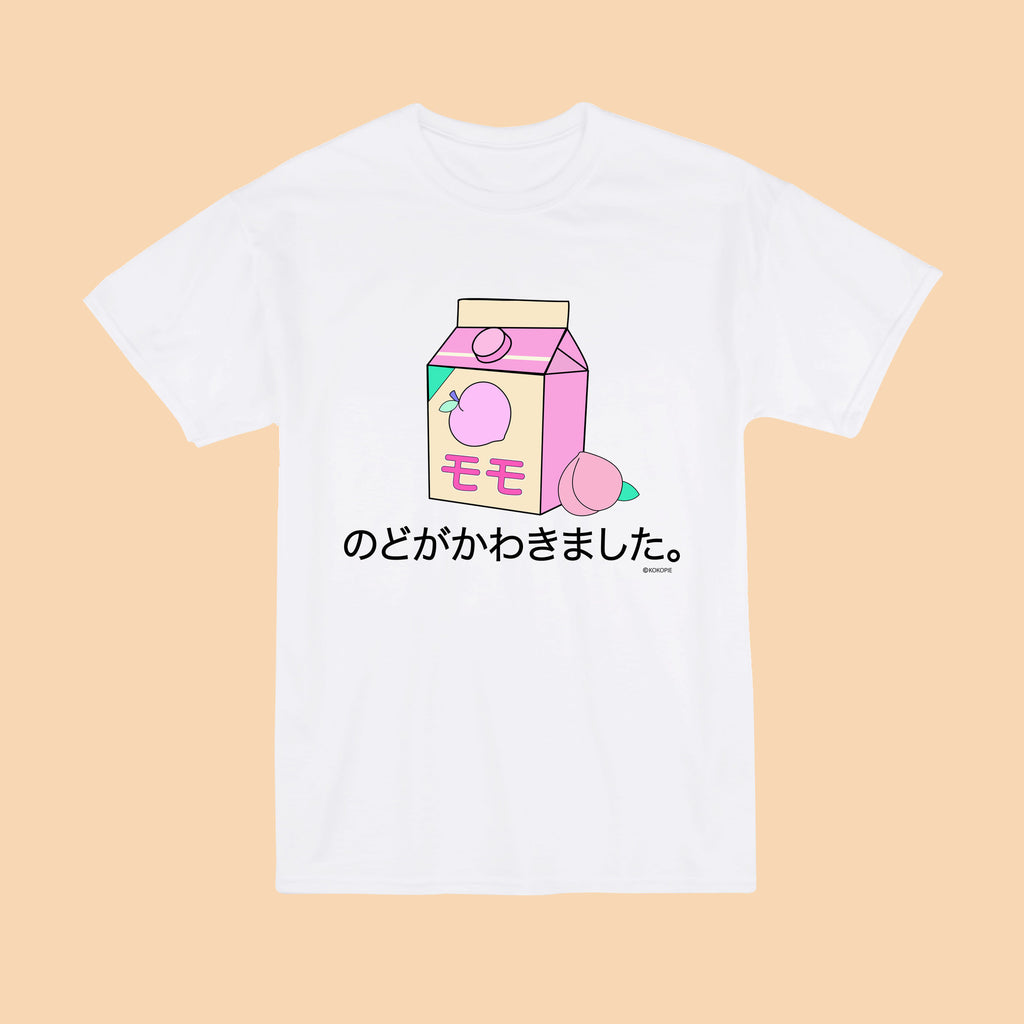 KOKO Tumblr Aesthetic PEACH JUICE Unisex Tee