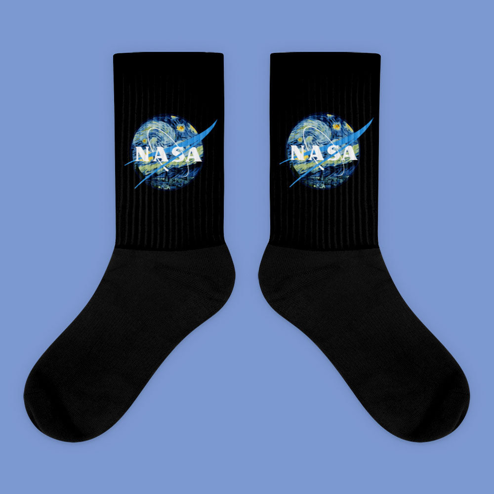 KOKO - NASA STARRY NIGHTS SOCKS (MADE IN USA- SWEATSHOP-FREE)