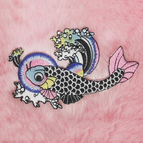 KOKO KAWAII KOI iron-on embroidery PATCH