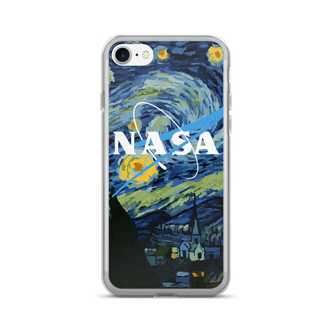 NASA VAN GOGH-SOFT GRUNGE iPhone case (5, 5s, 6, 6plus, 7, 7Plus)