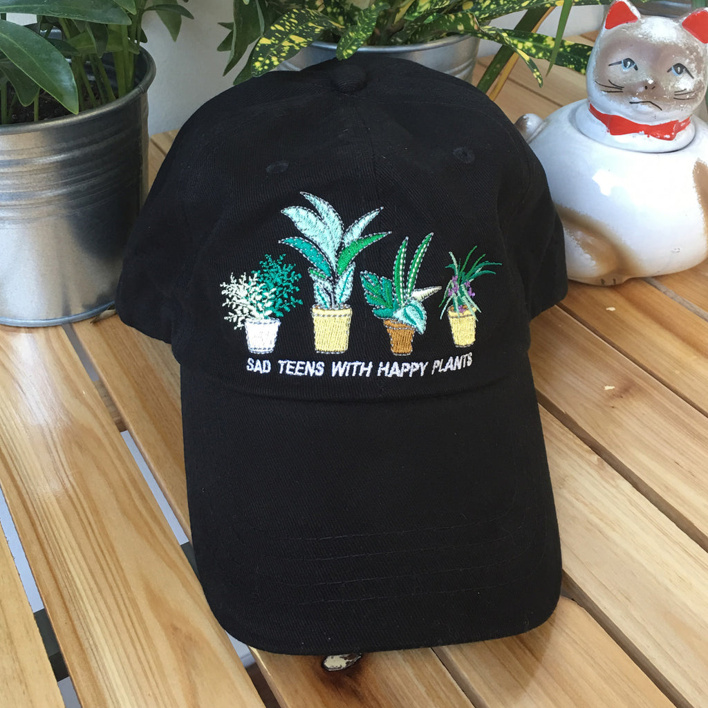 soft grunge - tumblr - sad teens with happy plants cap