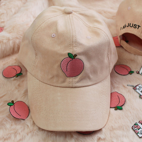 2 YEAR ANNIVERSARY SALE - JUST PEACHY SUEDE FEEL CAP