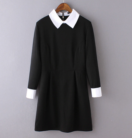 WEDNESDAY ADDAMS long sleeve dress