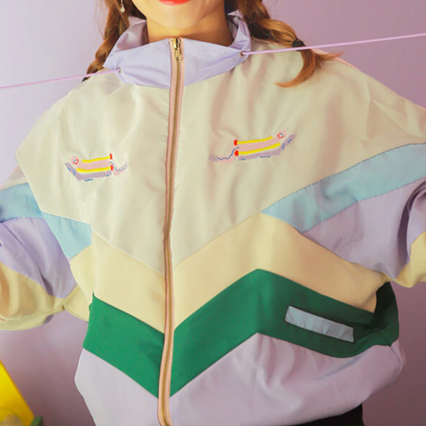 PASETL COLOR BLOCK KOKO BOMBER JACKET