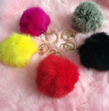 BLACK FRIDAY SALE-FAUX FUR KEY CHAIN