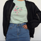 2 YEAR ANNIVERSARY SALE-Just take these flowers Lady Tee