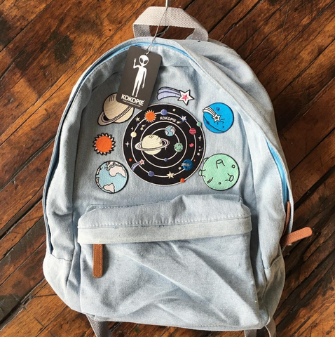 2017 BLACK FRIDAY-solar system koko canvas denim backpack