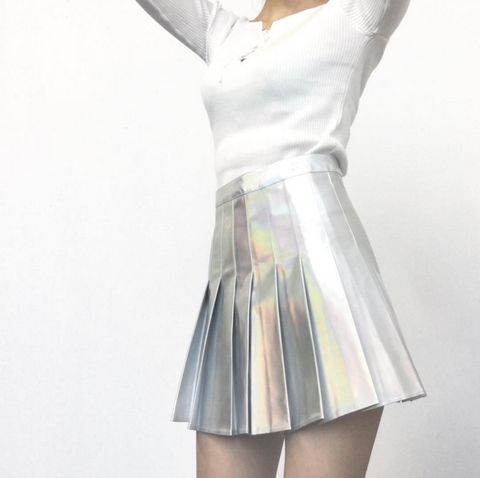 Valentine's Day SALE-KOKO TUMBLR GIRL holographic skirt