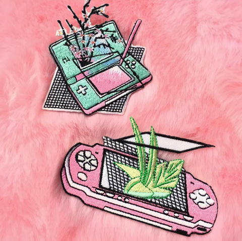 KOKO PROMOTION IRON ON Embroidery patch- Vaporwave set