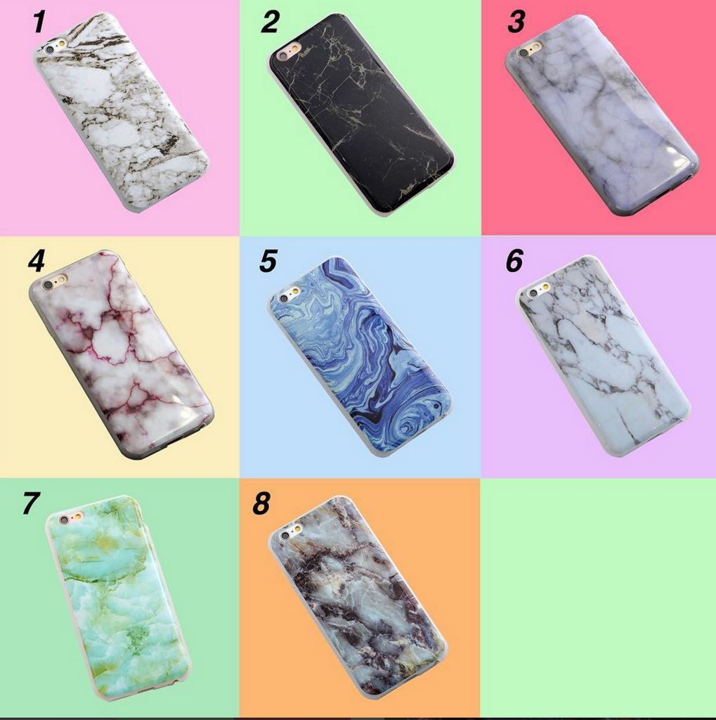 TUMBLR MARBLE PRINT JELLY iPHONE 6 CASE