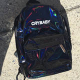TUMBLR AESTHETIC - KOKO HOLOGRAPHIC BLACK CRYBABY BACKPACK