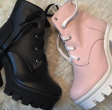 SAMPLE- USED FOR PHOTOSHOOT /CRYBABY BLACK KAWAII BOOTS
