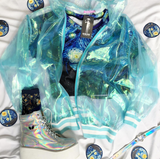 KOKO BLUE Holo Sheer Iridescent Jacket