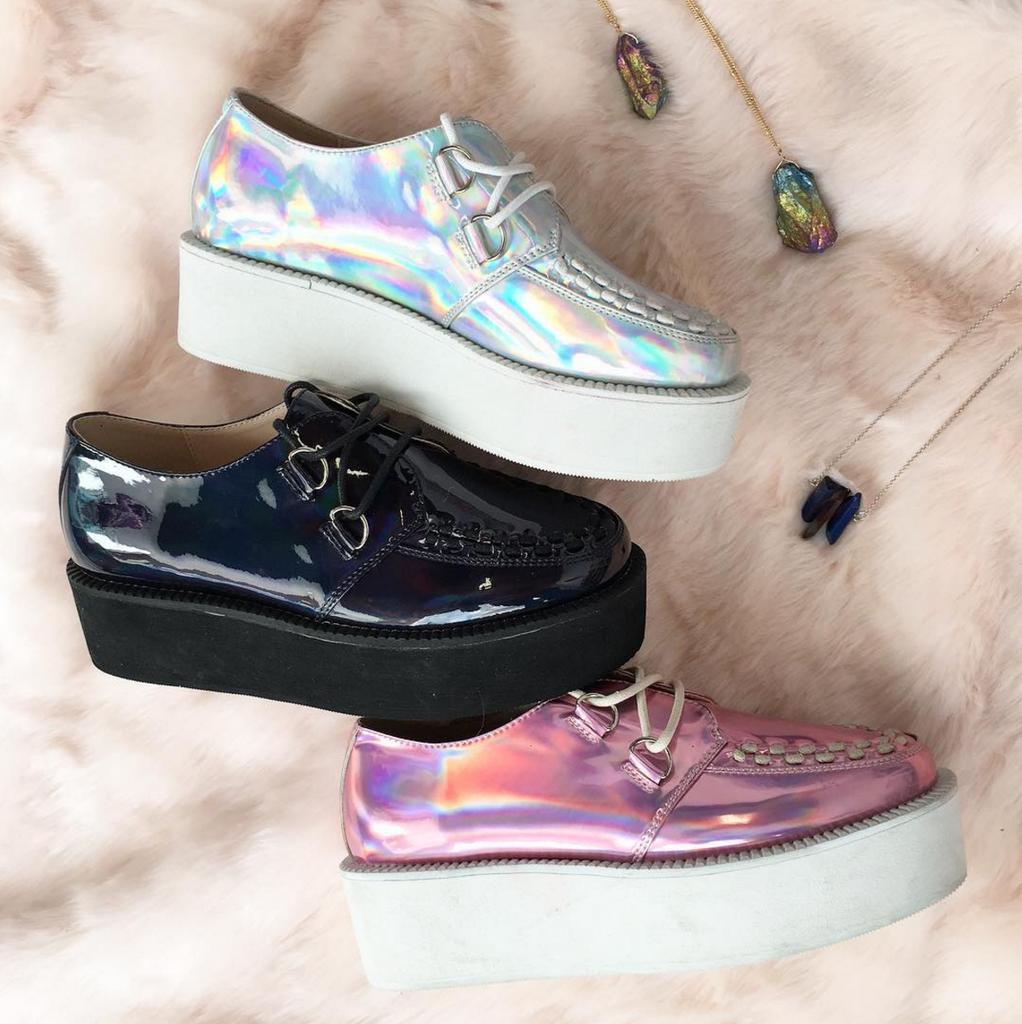 Black Friday AESTHETICS-TUMBLR HOLO CREEPERS