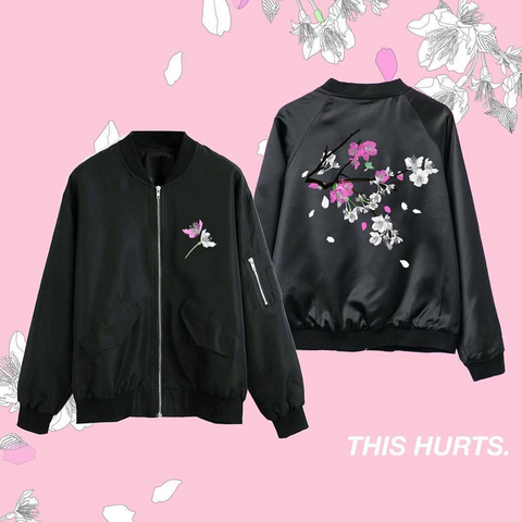 NEW! THIS HURTS. - SOFT GRUNGE TUMBLR UNISEX bomber jacket