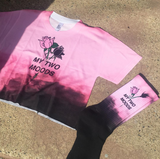 TWO MOODS COLLECTION- PINK BLACK CROP TOP -MADE IN USA (SWEATSHOP-FREE)