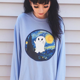 "YOU ARE ""ART"" COLLECTION - VAN GHOST - scary night - tumblr aesthetic ART jumper"