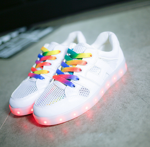RAINBOW LIGHT UP SHOES